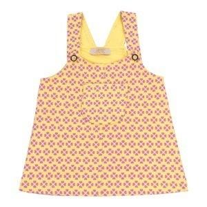 سارافون دخترانه طرح گل-زرد