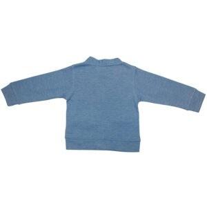 ژاکت بافت پسرانه یقه هفت-آبی