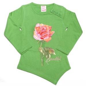 بلوز شلوار دخترانه طرح گل رز