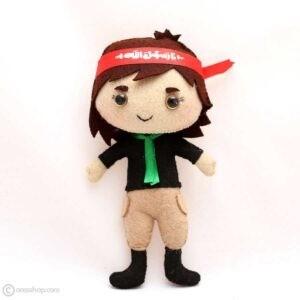 عروسک محسن | عروسک نمدی پسر با سربند