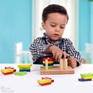 هوشکل | جایگذاری اعداد و اشکال چوبی
