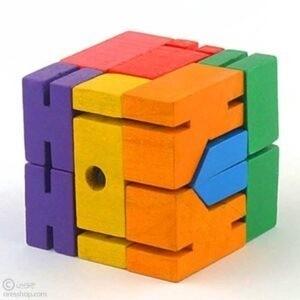 آدمک | ربات مکعبی چوبی | cubebot