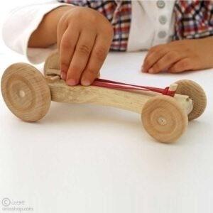 ماشین چوبی اسباب بازی