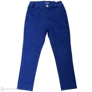 شلوار کتان پسرانه آبی کمر کش