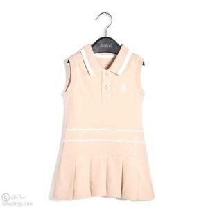 پیراهن حلقه ای دخترانه چین دار مدل لبنت