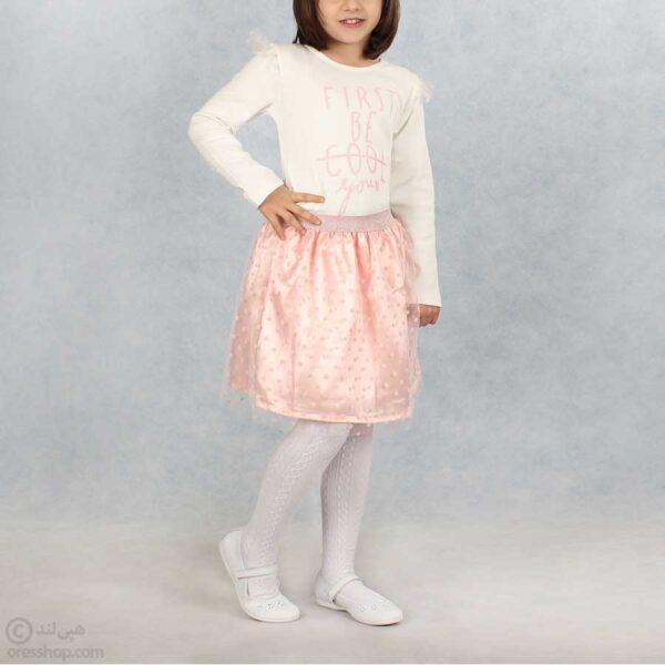 دامن دخترانه مجلسی خال خالی