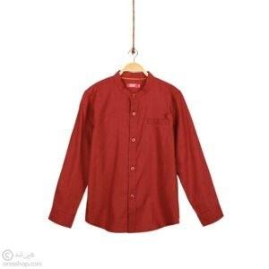 پیراهن آستین بلند پسرانه یقه ایستاده