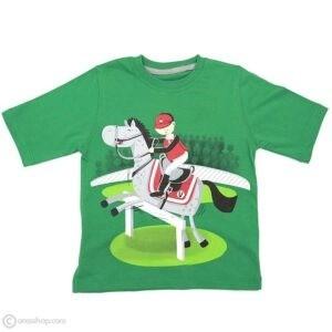 تیشرت پسرانه سوارکار | سبز