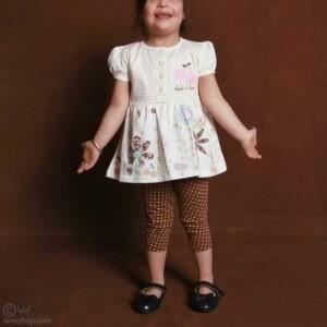 تونیک ساق شلواری کوتاه دخترانه میوههای بهاری