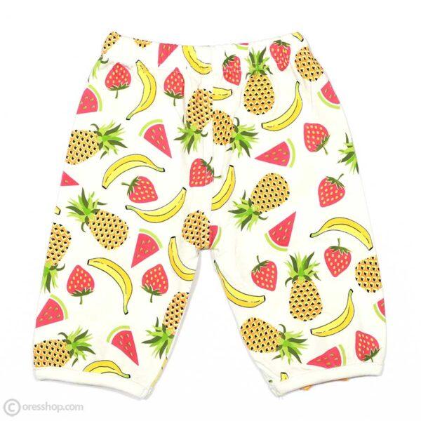 شومیز آستین حلقه دخترانه میوههای تابستانی-پشت شلوار