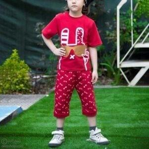 تیشرت شلوارک خرگوش-مدل قرمز