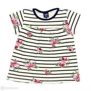 تیشرت شلوارک دخترانه گل گلی-جلو تیشرت