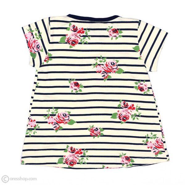 تیشرت شلوارک دخترانه گل گلی-پشت تیشرت