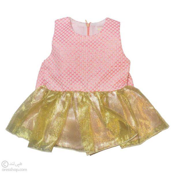 سارافون مجلسی نوزادی دخترانه با هدبند-جلوی لباس