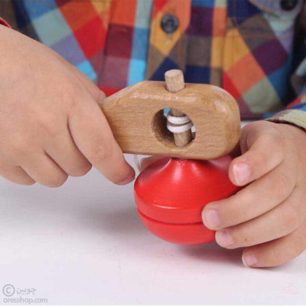 فرفره چوبی با نخ-2
