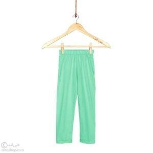 ساق شلواری دخترانه ساده-سبزآبی