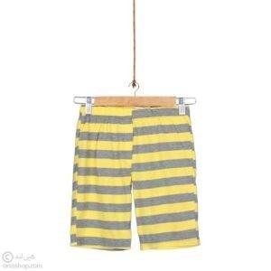 تیشرت شلوارک پسرانه ماشین امتیازگیری-شلوارک زرد