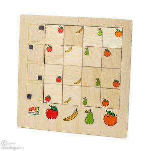 پازل هوش چوبی میوهها (16 قطعه)