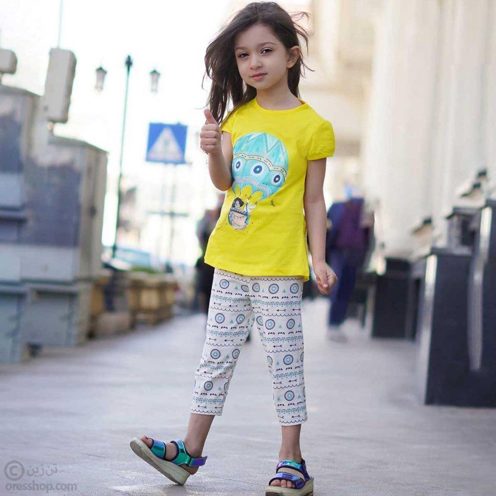 تیشرت شلوار کوتاه دختر بالون سوار