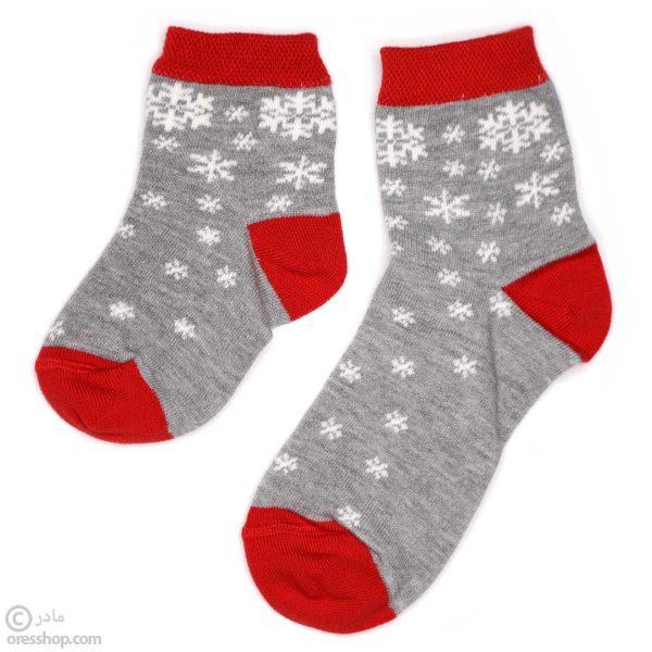 جوراب نیم ساق برف طوسی