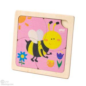 پازل چوبی 4 تکه زنبور